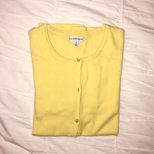 Croft & Barrow Yellow Cardigan